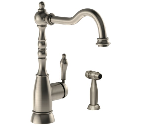 Abode Bayenne Pewter Single Lever Kitchen Mixer Tap With Handspray