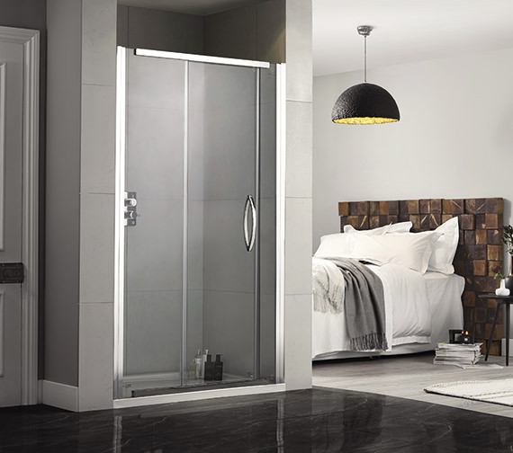 Aquadart Inline 1400mm Recess Sliding Shower Door