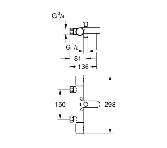 Technical drawing QS-V81821 / 34323002