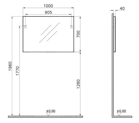 Technical drawing QS-V81850 / 61321