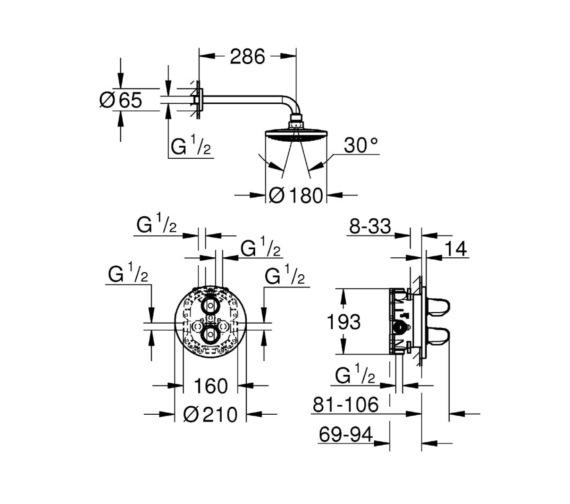 Technical drawing QS-V81833 / 34582000