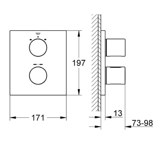 Technical drawing QS-V81831 / 19962000