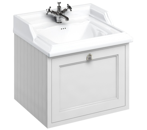 Burlington Wall Hung 650mm Drawer Unit With Classic Basin