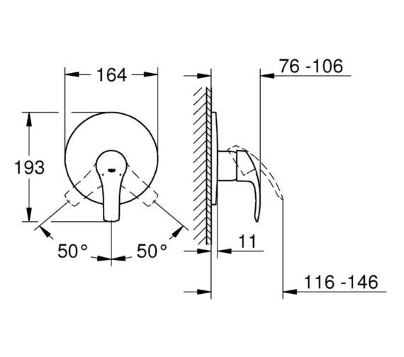 Technical drawing QS-V81800 / 19451002