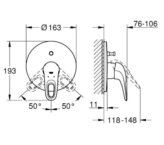 Technical drawing QS-V81815 / 19506003