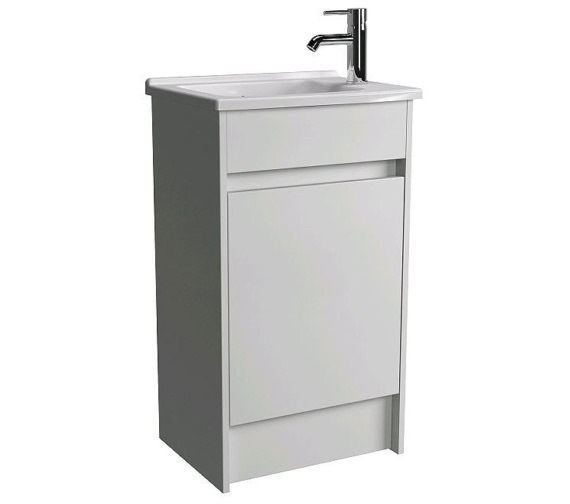VitrA Compact Floor Standing White Vanity Unit With Basin