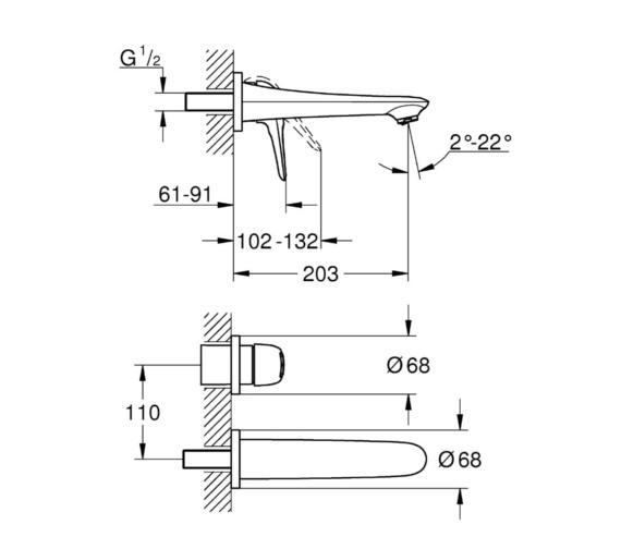 Technical drawing QS-V81808 / 19571003