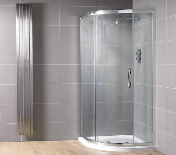 Aquadart Venturi 8  1200 x 800mm Single Door Offset Shower Quadrant