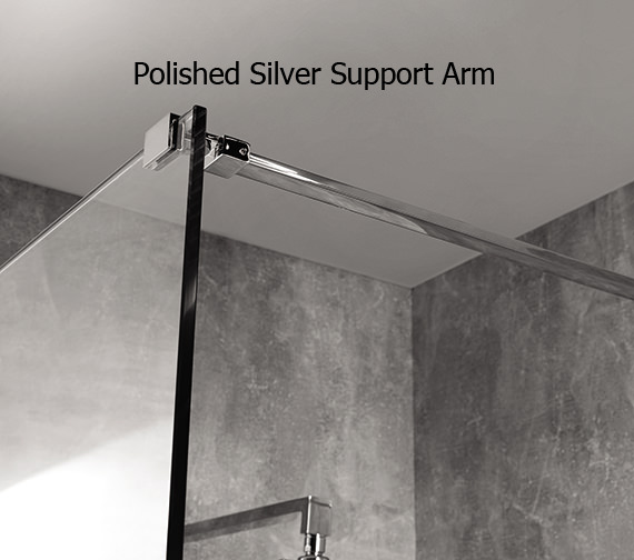 Alternate image of Aquadart Wetroom 10 Walk-In 1100mm Smoked Glass Shower Panel