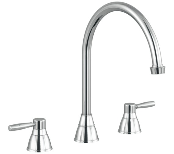 Abode Brompton Chrome 3 Hole Kitchen Mixer Tap