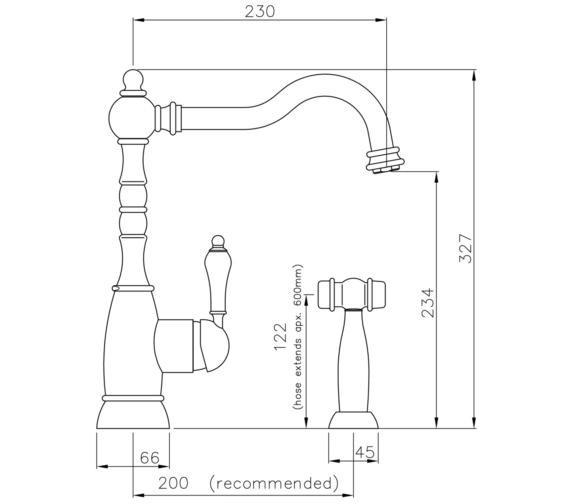 Technical drawing QS-V8670 / AT3031