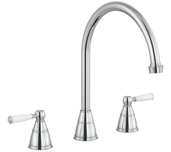 Abode Astbury Chrome 3 Hole Kitchen Mixer Tap