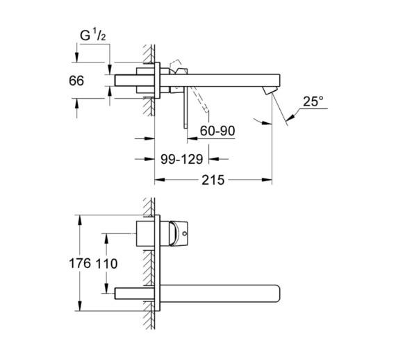 Technical drawing QS-V6816 / 23442000