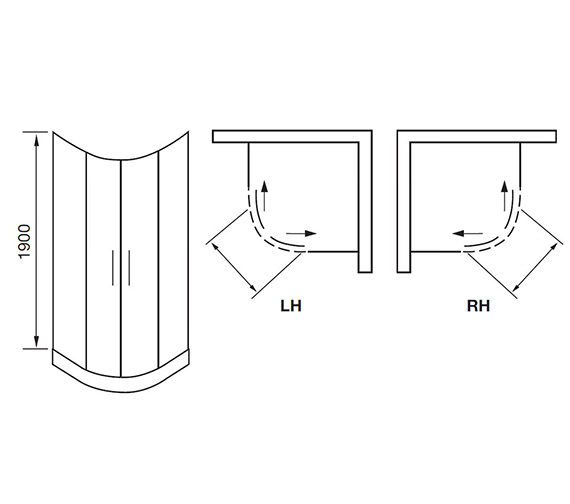 Technical drawing QS-V84182 / AQ9301S