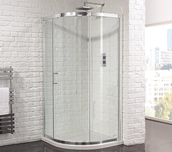 Aquadart Venturi 6  1200 x 900mm Single Door Offset Shower Quadrant