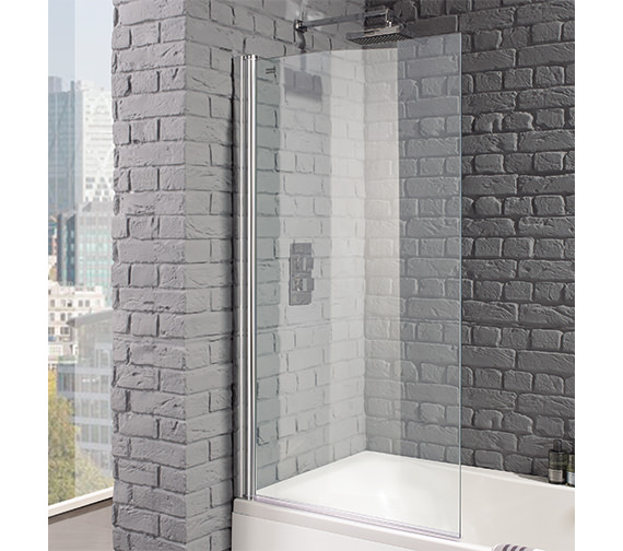 Aquadart Venturi 8 Square Edge 800 x 1400mm Bath Screen