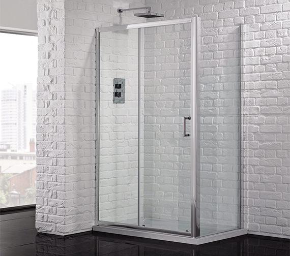 Aquadart venturi 6 1000mm sliding shower door aq9323s for 1000mm sliding shower door
