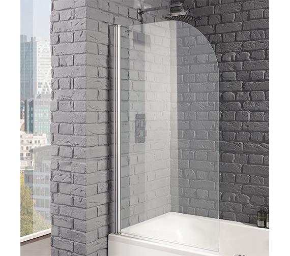 Aquadart Venturi 8 Round Edge 800 x 1400mm Bath Screen