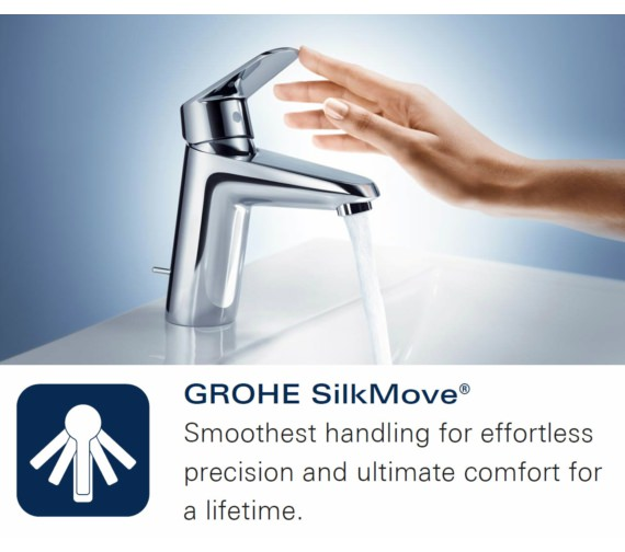 Additional image of Grohe Quadra S-Size Half Inch Single Lever Basin Mixer Tap