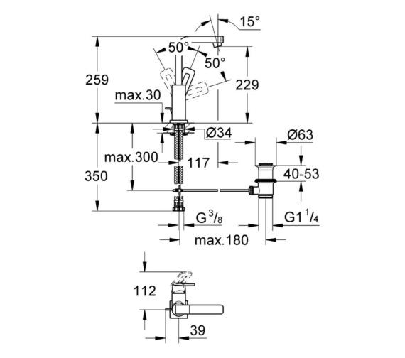 Technical drawing QS-V6814 / 23297000
