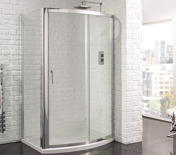 Aquadart venturi 6 1200mm bow fronted sliding shower door for 1200mm shower door sliding