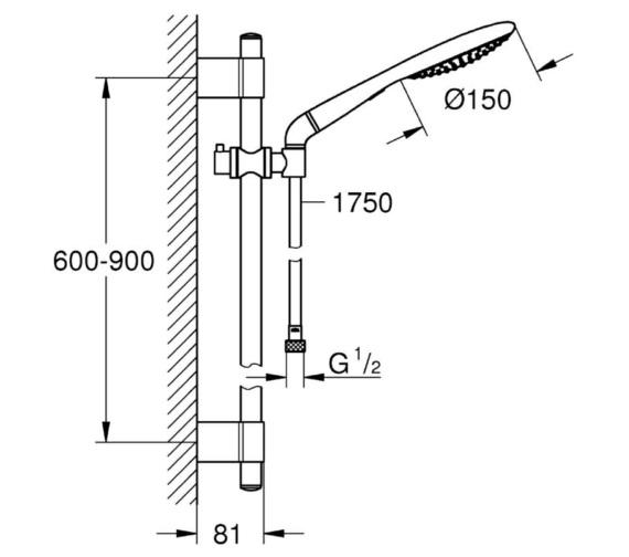 Technical drawing QS-V6822 / 27273001
