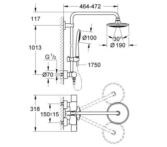 Technical drawing QS-V6823 / 27525000