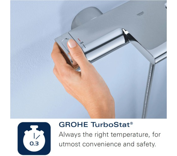 Alternate image of Grohe Rainshower Solo System 210 Shower System With Thermostat