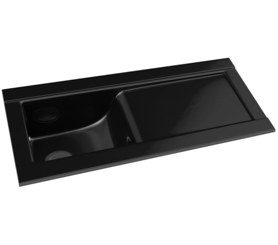 Ceramic Kitchen Sink With Drainer : ... Tydal Black Glaze 1.0 Bowl Ceramic Kitchen Sink With Drainer AW1003