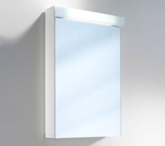 Schneider Lowline 50cm 1 Door Mirror Cabinet With LED Light