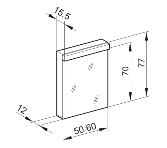 Technical drawing QS-V87006 / LOW 50/1/LED