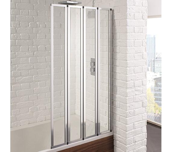 Aquadart Venturi 6 800 x 1400mm 4 Fold Bath Screen