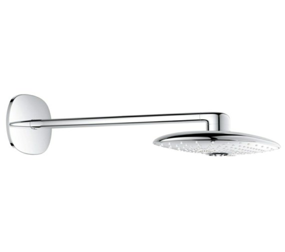 Grohe Rainshower 360mm 2 Spray Chrome Head Shower With Pattern Arm