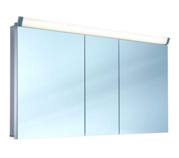 Schneider Paliline 130cm 3 Door Mirror Cabinet With LED Light
