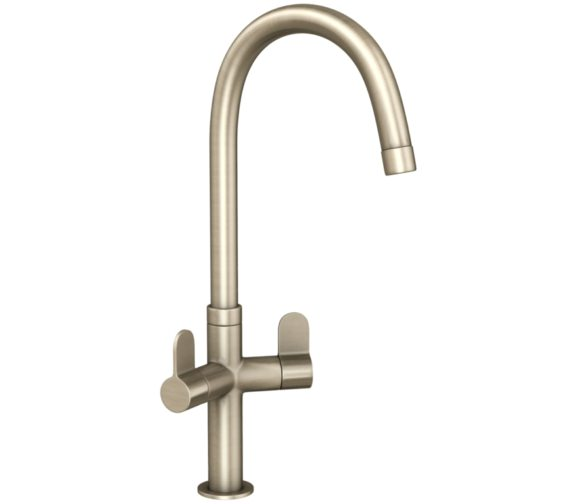 Abode Verla Brushed Nickel Monobloc Kitchen Mixer Tap