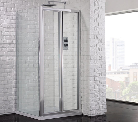 Aquadart Venturi 6 900mm Framed Bifold Shower Door