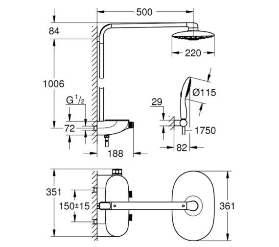 Technical drawing QS-V6820 / 26361000