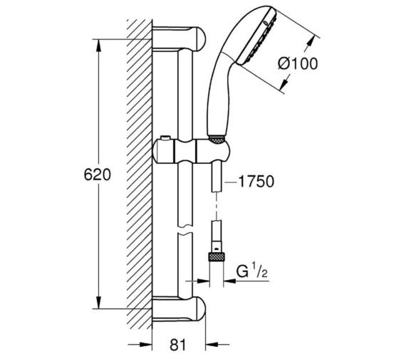 Technical drawing QS-V6831 / 118600