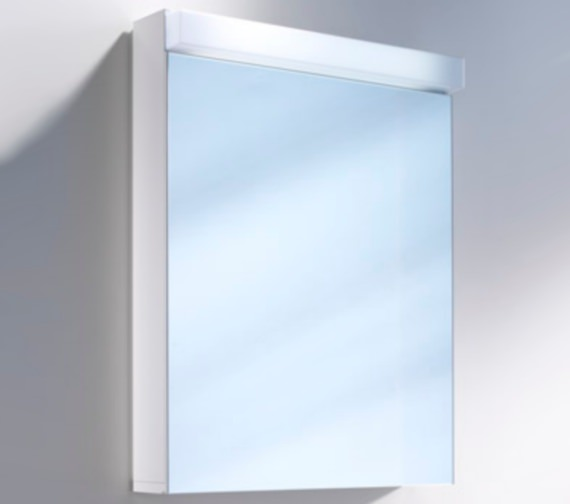 Additional image of Schneider Lowline 60cm 1 Door Mirror Cabinet With LED Light And Open Shelf Below