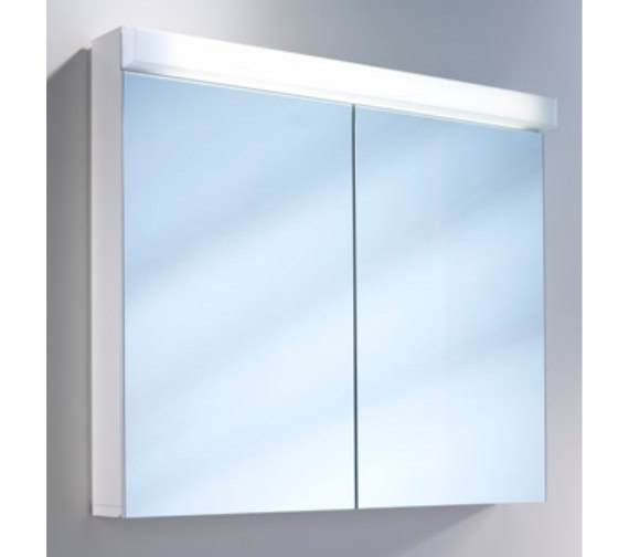 Additional image of Schneider Lowline 2 Door Mirror Cabinet With LED Light