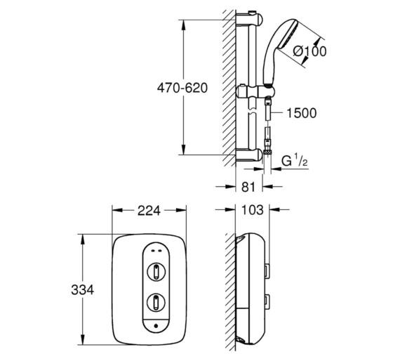 Technical drawing QS-V6827 / 26222000