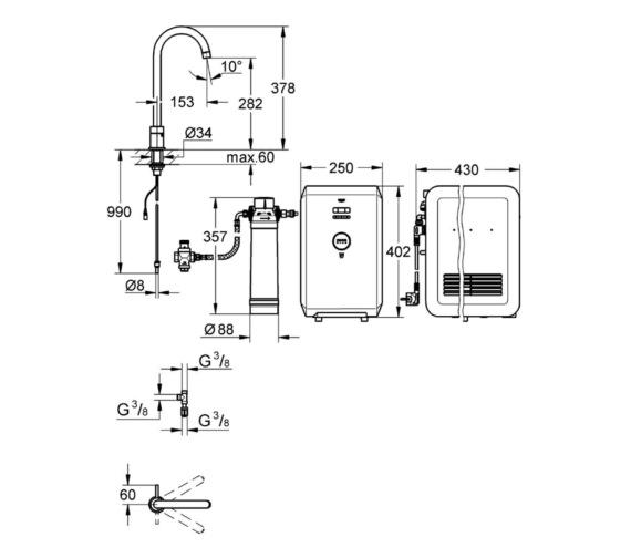 Technical drawing QS-V6837 / 31384DC0