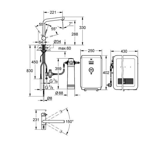 Technical drawing QS-V6838 / 31381001