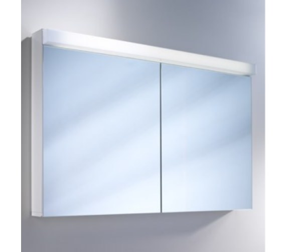 Alternate image of Schneider Lowline 2 Door Mirror Cabinet With LED Light