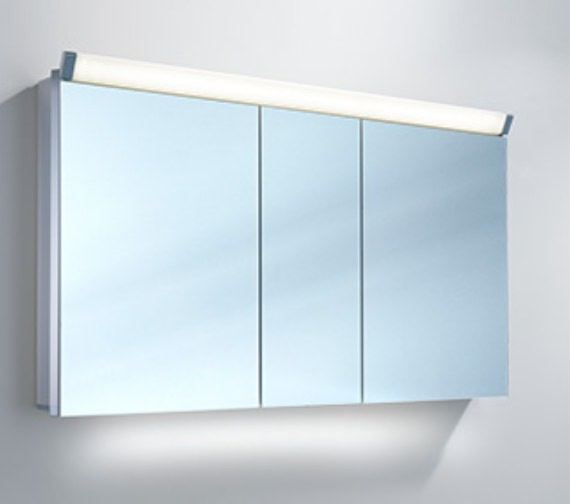 Schneider Lowline 130cm 3 Door Mirror Cabinet With LED Light