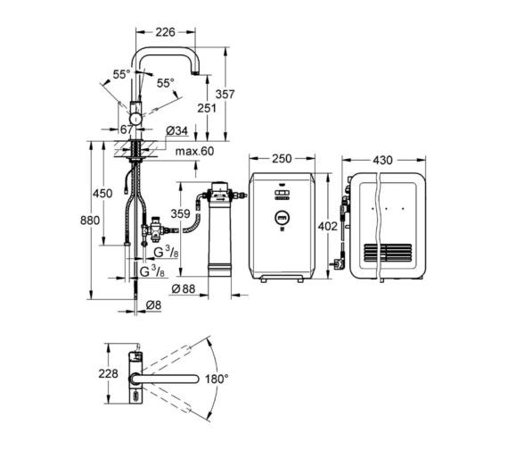 Technical drawing QS-V6835 / 31383DC0