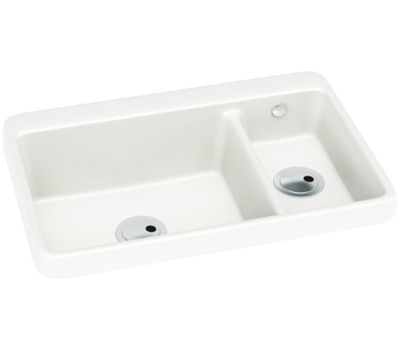 Abode Matrix GR10 1.5 Bowl White Granite Kitchen Sink