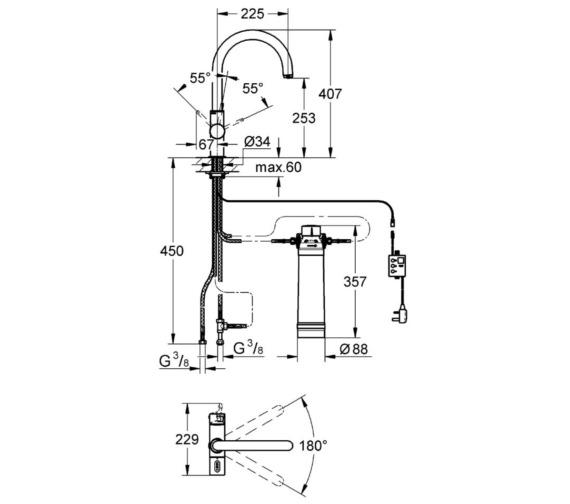 Technical drawing QS-V6841 / 31087001