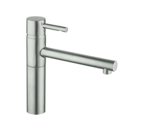 grohe essence sink mixer tap with pull out mousseur supersteel. Black Bedroom Furniture Sets. Home Design Ideas