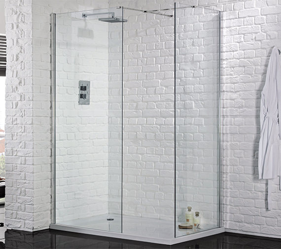 Aquadart Wetroom 8 Walk-In 760mm Shower Panel